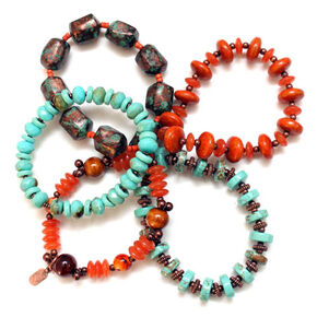 Treska Women's Santa Fe 5-Strand Beaded Bracelet Set, Multi, hi-res