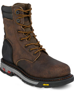 Justin 8 Inch Lace Up Commander X5 Work Boots - Composite Toe, , hi-res