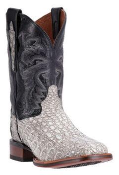 Dan Post Denver Silver Caiman Cowboy Boots - Square Toe, , hi-res