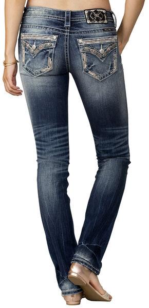 Miss Me Women's Indigo Signature Rise Jeans - Straight Leg, Indigo, hi-res