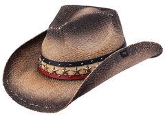 Peter Grimm Hogan Straw Cowboy Hat, , hi-res