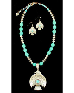 Blazin Roxx Women's Thunderbird Necklace & Earrings Set, , hi-res