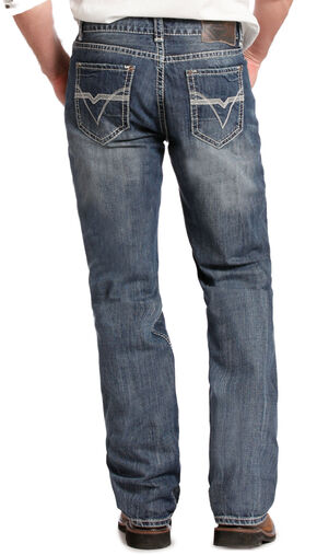 Rock and Roll Cowboy Double Barrel Relaxed Fit Medium Wash Jeans - Straight Leg , Denim, hi-res