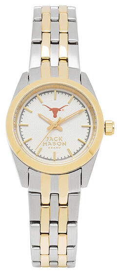 Jack Mason Women's University of Texas Two-Tone Bracelet Watch , , hi-res