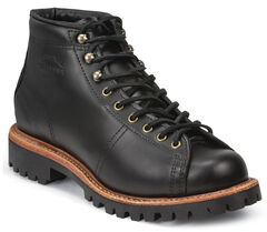Chippewa Men's Black Lace-to-Toe Field Boots - Round Toe, , hi-res
