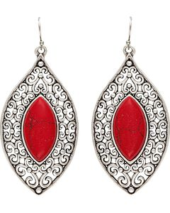 Wrangler Rock 47 Knotted Lace Red Marquis Earrings, , hi-res