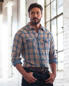 Ryan Michael Men's Double Face Plaid Shirt , , hi-res