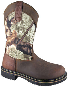 Smoky Mountain Men's Stage Camo Wellington Work Boots - Round Toe, , hi-res