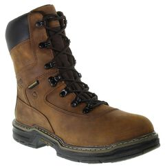 """Wolverine Marauder 8"""" Waterproof & Insulated Lace-Up Work Boots - Round Toe, , hi-res"""