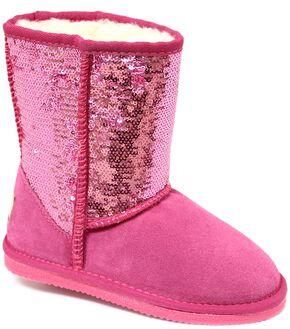 Dije California Girls' Sequin Sheepskin Classic Boots, Pink, hi-res