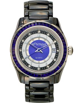 Montana Silversmiths Ceramic & Blue Stone Watch, Black, hi-res