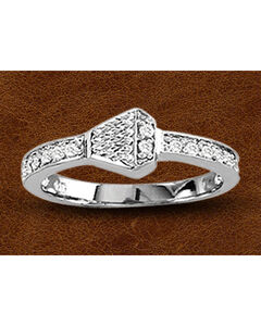Kelly Herd Sterling Silver Rhinestone Nail Ring, , hi-res
