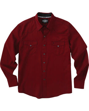 Garth Brooks Sevens by Cinch Red Jacquard Western Shirt , Burgundy, hi-res