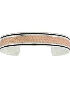 Montana Silversmiths Women's Rose Gold Whipped Stitch Cuff Bracelet , , hi-res