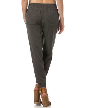 Miss Me Charcoal Grey Jogger Capris , Charcoal Grey, hi-res