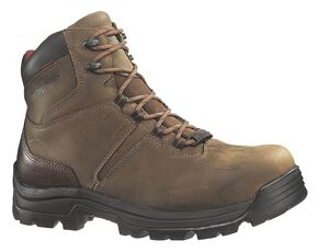 "Wolverine Bonaventure 6"" Waterproof Work Boots - Steel Toe, Brown, hi-res"