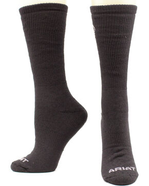 Ariat Men's Micro Modal Uniform Socks - Two Pack, Black, hi-res