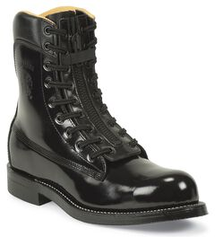 "Chippewa Zipper 9"" Pull-On Work Boots - Steel Toe, Black, hi-res"