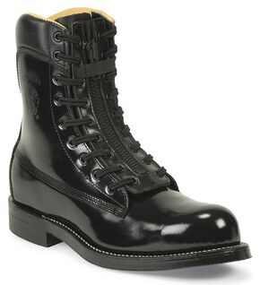 "Chippewa Zipper 9"" Pull-On Work Boots - Steel Toe, Black, hi-res"