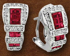 Kelly Herd Sterling Silver Ranger Style Buckle Earrings , , hi-res