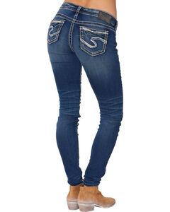 "Silver Women's Aiko Super Skinny Jeans - 31"" Inseam, , hi-res"