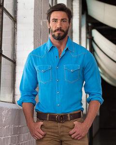 Ryan Michael Men's Whip Stitch Silk Linen Shirt, Blue Jay, hi-res