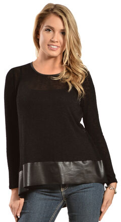 Petrol Women's Black Long Sleeve Top , , hi-res