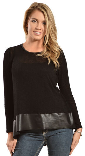 Petrol Women's Black Long Sleeve Top , Black, hi-res