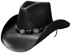 Bullhide Black Hills Shantung Panama Straw Cowboy Hat, , hi-res