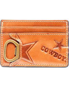 Jack Mason Men's Dallas Sideline ID Card Case , Brown, hi-res
