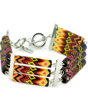 Jilzarah Sunset Tri-Tube Bracelet, Sunset, hi-res