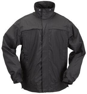 5.11 Tactical Men's TacDry Rain Shell - 3XL, Black, hi-res