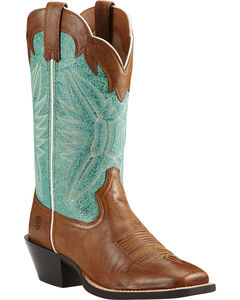 Ariat Round Up Outfitter Cowgirl Boots - Square Toe, , hi-res
