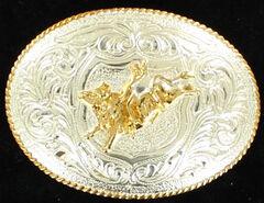 M&F Western Bullrider Kids Belt Buckle, , hi-res