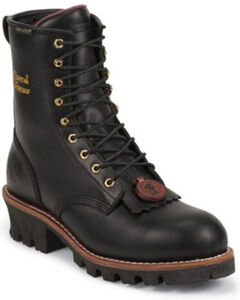 """Chippewa Waterproof & Insulated 8"""" Logger Boots - Steel Toe, , hi-res"""