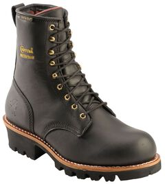 """Chippewa Waterproof & Insulated 8"""" Logger Boots - Round Toe, , hi-res"""