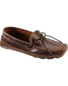 Men's Minnetonka Double Bottom Cowhide Driving Moccasins - XL, , hi-res