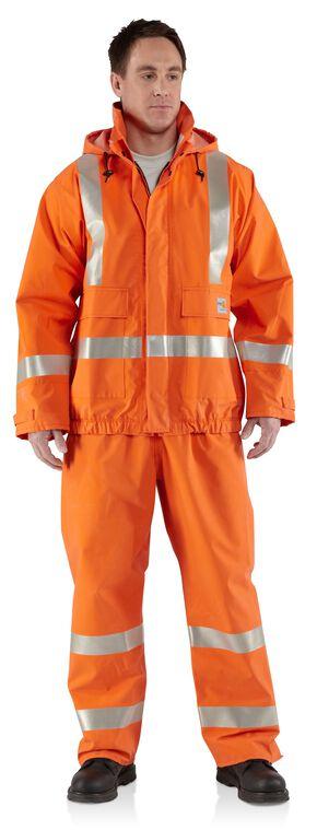 Carhartt Flame Resistant Rain Jacket - Big & Tall, Orange, hi-res