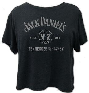 Jack Daniel's Women's Tennessee Whiskey Crop Tee , Grey, hi-res