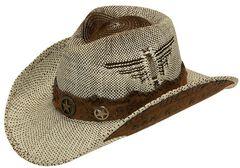 Twister Fashion Raffia Lonestar Band Straw Cowboy Hat, , hi-res
