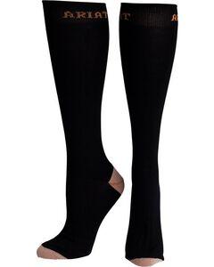 Ariat Men's Tall Black Boot Socks, , hi-res