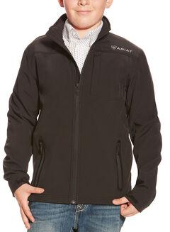Ariat Boys' Black Vernon Softshell Jacket , , hi-res