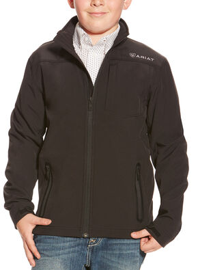 Ariat Boys' Black Vernon Softshell Jacket , Black, hi-res