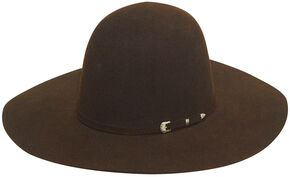 Twister 2X Select Wool Men's Open Crown Hat , Chocolate, hi-res
