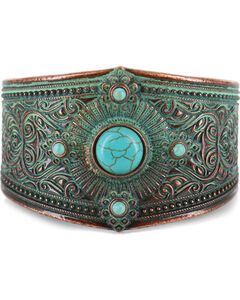 Shyanne Women's Turquoise Patina Cuff, , hi-res