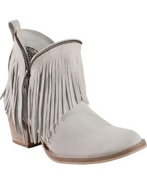 Dingo Hypnotic Fringe Cowgirl Boots - Round Toe, White, hi-res