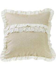 HiEnd Accents Charlotte Ruffle Trim and Lace Accent Pillow, , hi-res