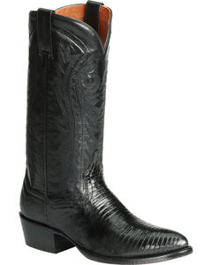 Dan Post Teju Lizard Western Boots - Pointed Toe, , hi-res