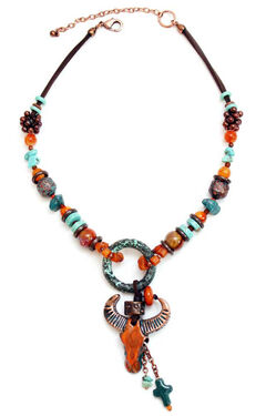 Treska Women's Santa Fe Beaded Pendant Necklace , , hi-res