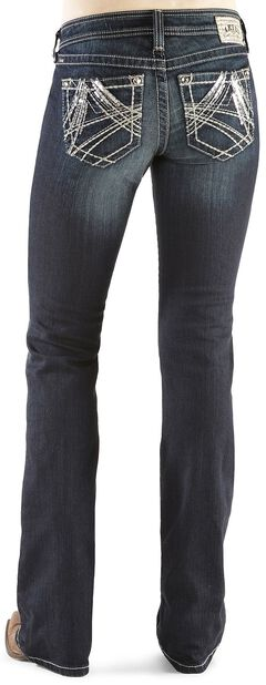 Ariat Turquoise Sequin A Starlight Jeans, , hi-res